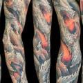 Fantasy Sleeve tattoo by Nick Baxter