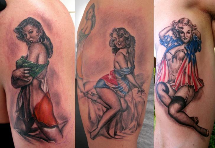 Tatuagem pin up por stefano alcantara for Tatuaggi stile pin up