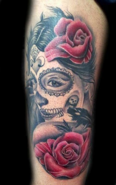 arm mexikanischer totenkopf tattoo von nirvana tattoo. Black Bedroom Furniture Sets. Home Design Ideas