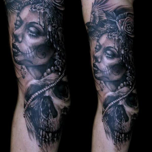seite mexikanischer totenkopf tattoo von mancia tattoos. Black Bedroom Furniture Sets. Home Design Ideas