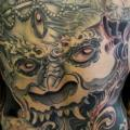 Japanese Back Demon Butt tattoo by Javier Tattoo