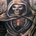 Fantasy Back Death tattoo by Javier Tattoo