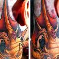 Fantasy Neck Dragon tattoo by Jesse  Smith Tattoos