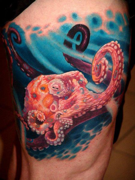 Realistic Octopus Tattoo Realistic Octopus Thig...