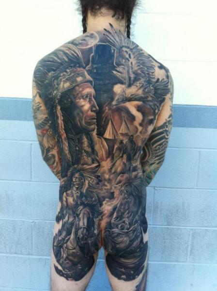 realistic back butt indian horse tattoo by josh duffy tattoo. Black Bedroom Furniture Sets. Home Design Ideas