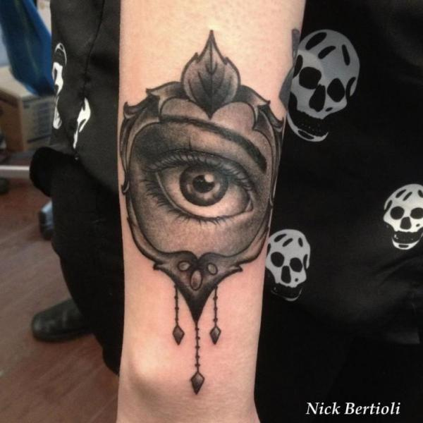 Arm Eye Medallion Tattoo By Nick Bertioli