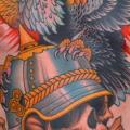 Chest Skull Eagle Belly tattoo by Peter Lagergren