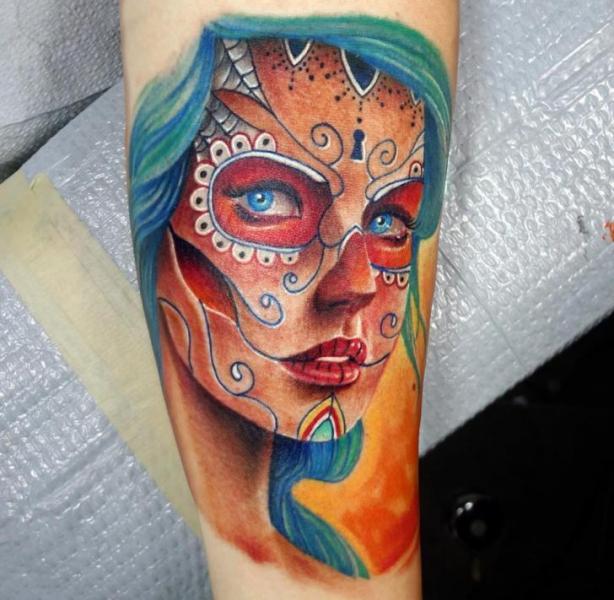 tatouage bras cr ne mexicain par insight studios. Black Bedroom Furniture Sets. Home Design Ideas