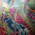 Japanese Back Tiger Dragon tattoo by Mike Chambers