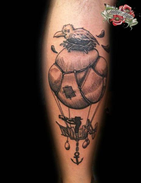 arm fantasy balloon tattoo by style tattoo