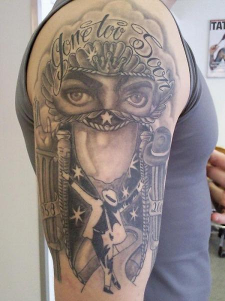 Shoulder Fantasy Michael Jackson Tattoo By Body Corner
