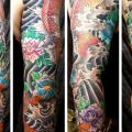 Japanese Carp Koi Sleeve tattoo by Saved Tattoo
