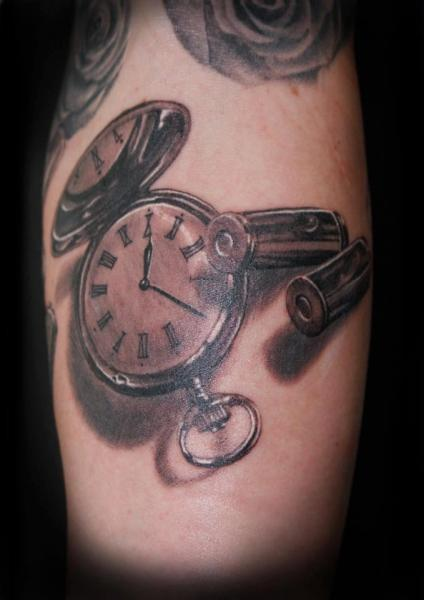 realistic clock 3d tattoo by tattoos by mini. Black Bedroom Furniture Sets. Home Design Ideas