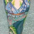 Fantasy Calf Japanese Frog tattoo by Colin Jones