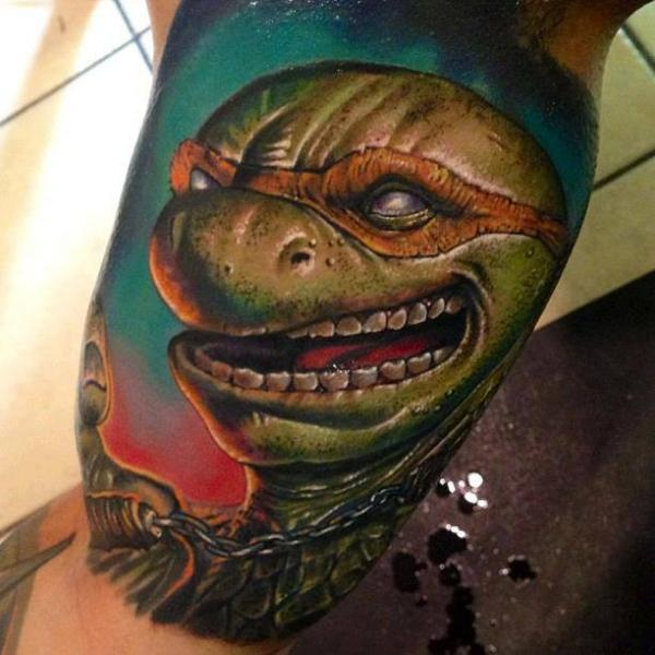 Arm Fantasy Ninja Turtle Tattoo By Roman