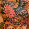 Snake Chest Old School Eagle Belly tattoo by The Sailors Grave