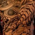 Japanese Back Tiger Butt tattoo by Salt Water Tattoo