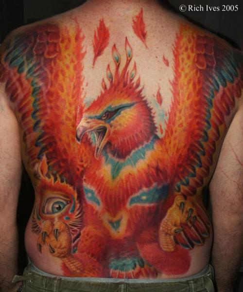 fantasie r cken phoenix tattoo von steel city tattoo. Black Bedroom Furniture Sets. Home Design Ideas