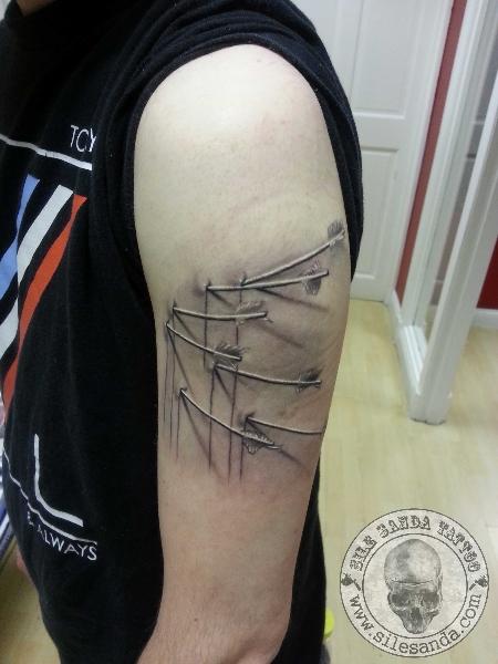 Realistic 3d Arrow Tattoo by Sile Sanda