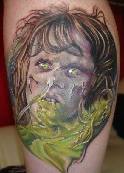 Fantasy Calf Zombie Tattoo By Heather Maranda
