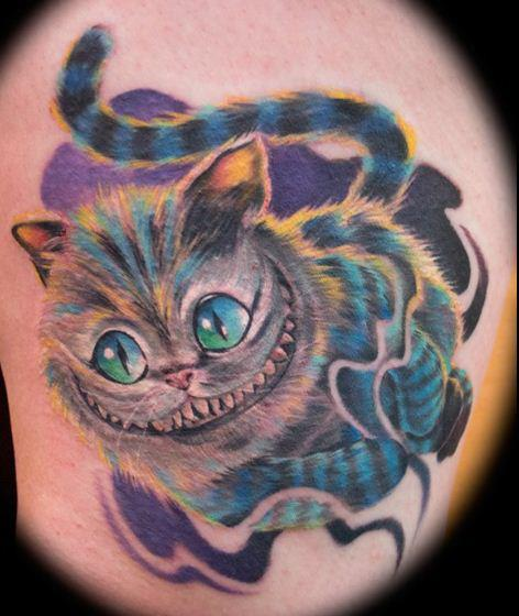 fantasy cat tattoo by heather maranda. Black Bedroom Furniture Sets. Home Design Ideas