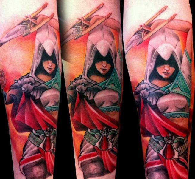 Arm Fantasy Warrior Tattoo by Alans Tattoo Studio Koi Tattoo Side