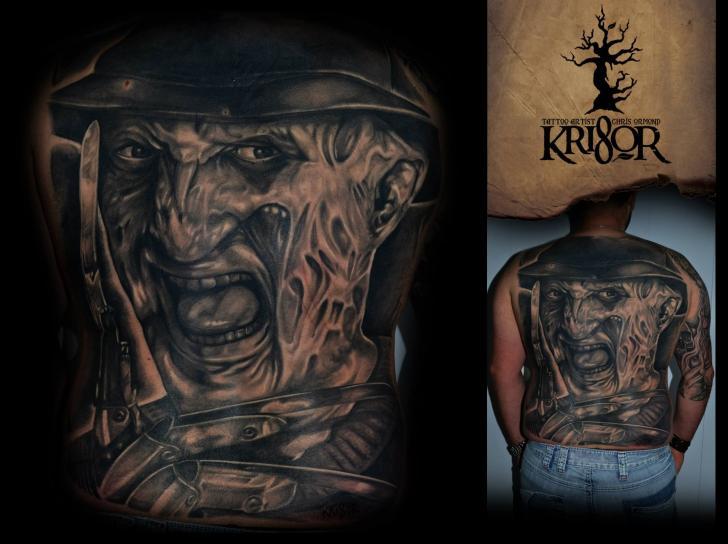 Back Nightmare Freddy Krueger Tattoo By Kri8or