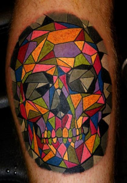 Arm skull abstract tattoo by dark art tattoo for Modern art tattoo