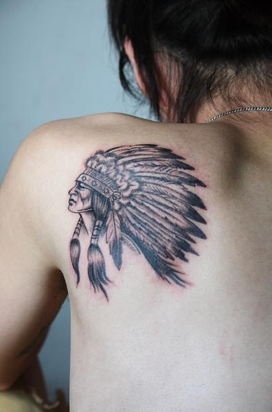 Shoulder Indian Tattoo By Gz Tattoo