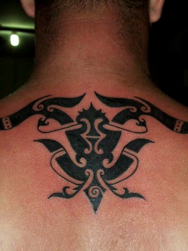 tribal neck tattoo by borneo head hunter. Black Bedroom Furniture Sets. Home Design Ideas