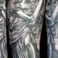 Arm Fantasy Angel Crux tattoo by Attitude Tattoo Studio
