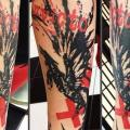 Arm Trash Polka tattoo by World's End Tattoo