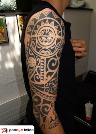 arm tribal maori tattoo by popeye tattoo. Black Bedroom Furniture Sets. Home Design Ideas