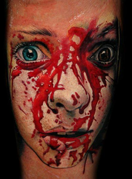 portrait blood tattoo by black rose tattoo. Black Bedroom Furniture Sets. Home Design Ideas