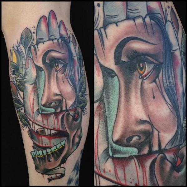 arm fantasie totenkopf frauen hand tattoo von art junkies. Black Bedroom Furniture Sets. Home Design Ideas