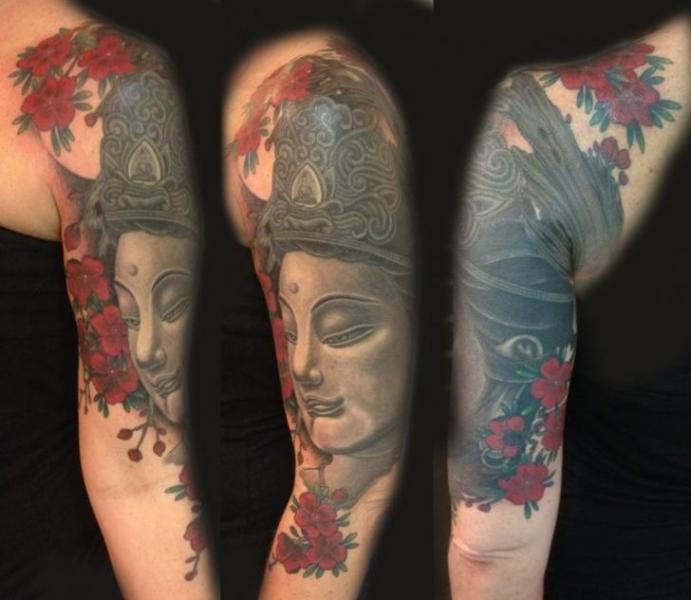 Фотографии татуировок, помеченные тегом Будда Грудь Япония Плечо Череп тату