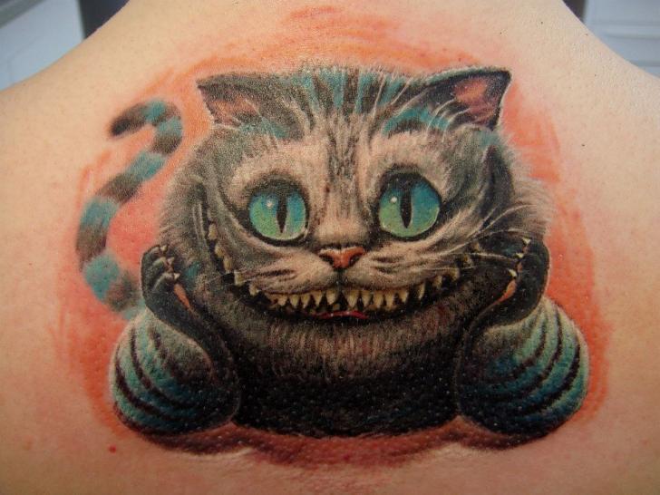 fantasie r cken katzen tattoo von roman kuznetsov tattoo. Black Bedroom Furniture Sets. Home Design Ideas