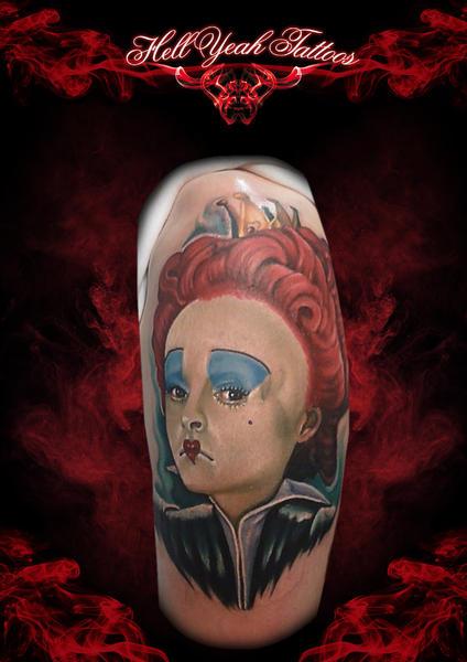 Schulter Fantasie Alice Im Wunderland Tattoo Von Hellyeah Tattoos