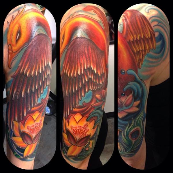 Fantasy Phoenix Tattoo By Mike Woods