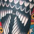 New School Calf Eagle tattoo by Rock of Age