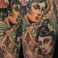 Shoulder Women Wings tattoo by Kid Kros