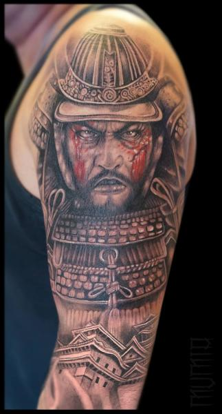 tatouage paule r aliste samoura par mumia tattoo. Black Bedroom Furniture Sets. Home Design Ideas