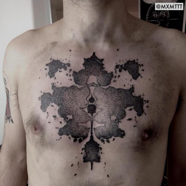 Brust Dotwork Abstrakt Tattoo Von Mxm