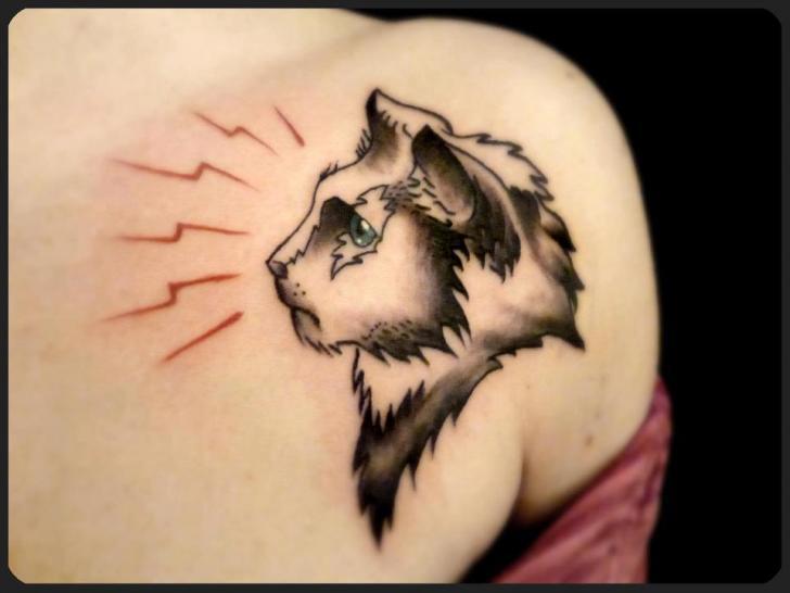 tatouage paule chat par tattoo b52. Black Bedroom Furniture Sets. Home Design Ideas