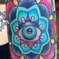 Arm New School Blumen tattoo von Alex Strangler