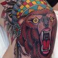 New School Bein Bären Indisch tattoo von Marc Nava