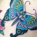 Shoulder New School Butterfly tattoo by Marc Nava