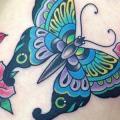 Schulter New School Schmetterling tattoo von Marc Nava