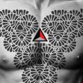 tatuagem Peito Tribais por 2vision Estudio