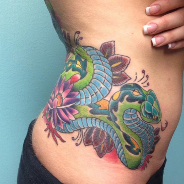 New School Snak... New School Snake Tattoo